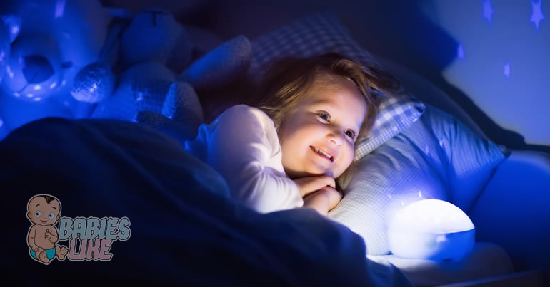 Toddler with Night Light