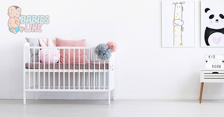 Baby bedroom set up with a mini crib