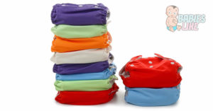 A stack of cloth diapers