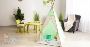 Teepee set up ready for some fun play