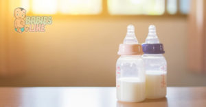 Baby bottles with different nipple sizes
